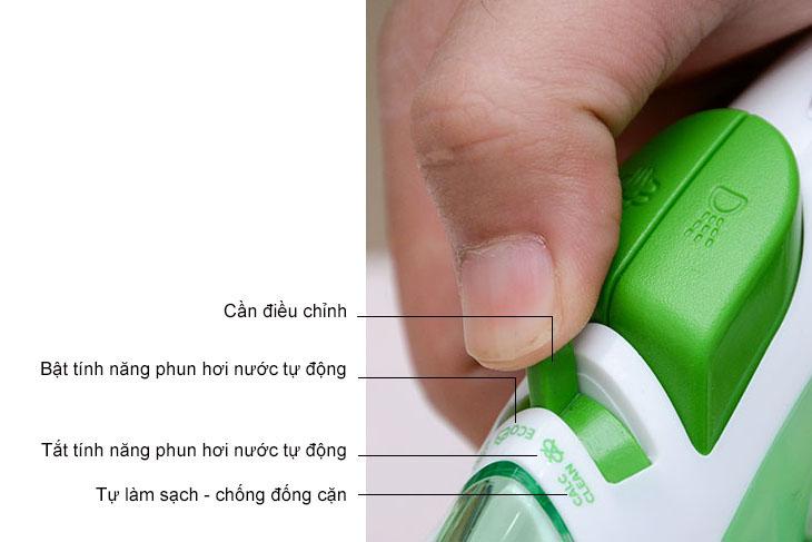 Các ký hiệu trên bàn ủi hơi nước để bàn
