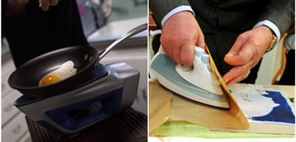 Bạn có tin bàn ủi còn có thể nấu chín được đồ ăn?
