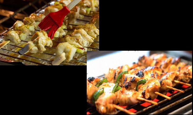 Bước 2 Chế biến nước sốt và nướng gà Yakitori gà nướng xiên que Nhật Bản