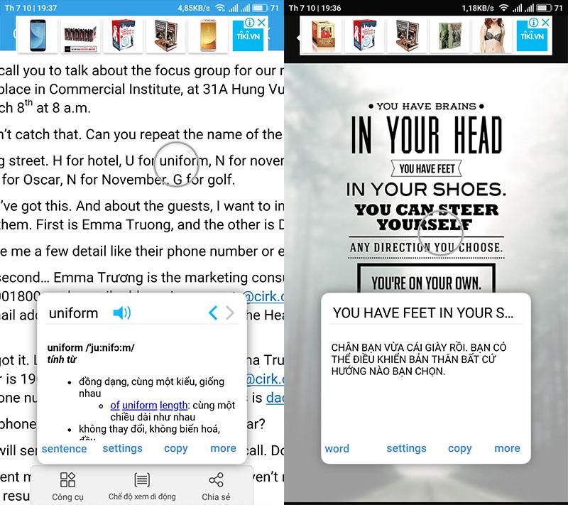 Cách tra từ Điển cực nhanh trên Android giống như S-pen Note 8