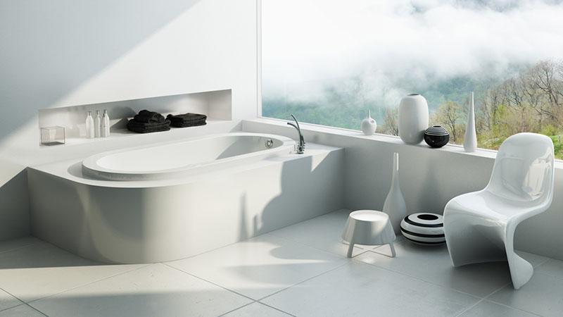 Các loại bồn tắm chủ yếu được sử dụng ngày nay đó là bồn sứ trắng, loại bồn tắm này mang đến vẻ đẹp sang trọng và sạch sẽ cho phòng tắm nhưng cần phải được vệ sinh thường xuyên để không bị ố, bẩn…
