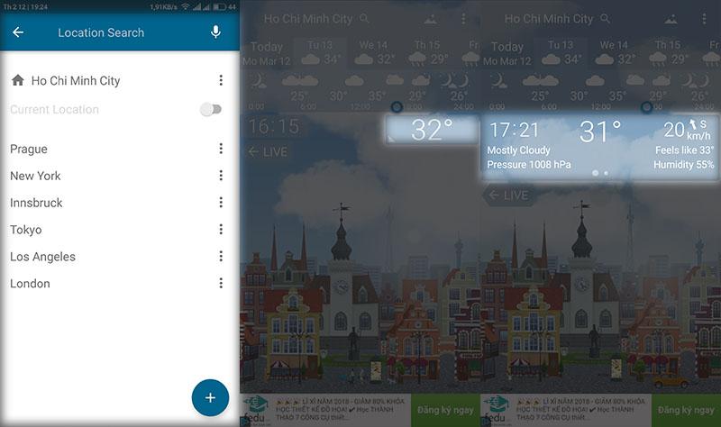 Cách tạo hình nền thay đổi theo thời tiết cực đẹp trên Android - ảnh 3