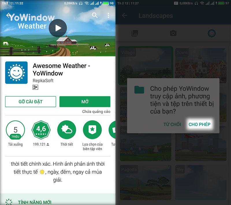Cách tạo hình nền thay đổi theo thời tiết cực đẹp trên Android - ảnh 2