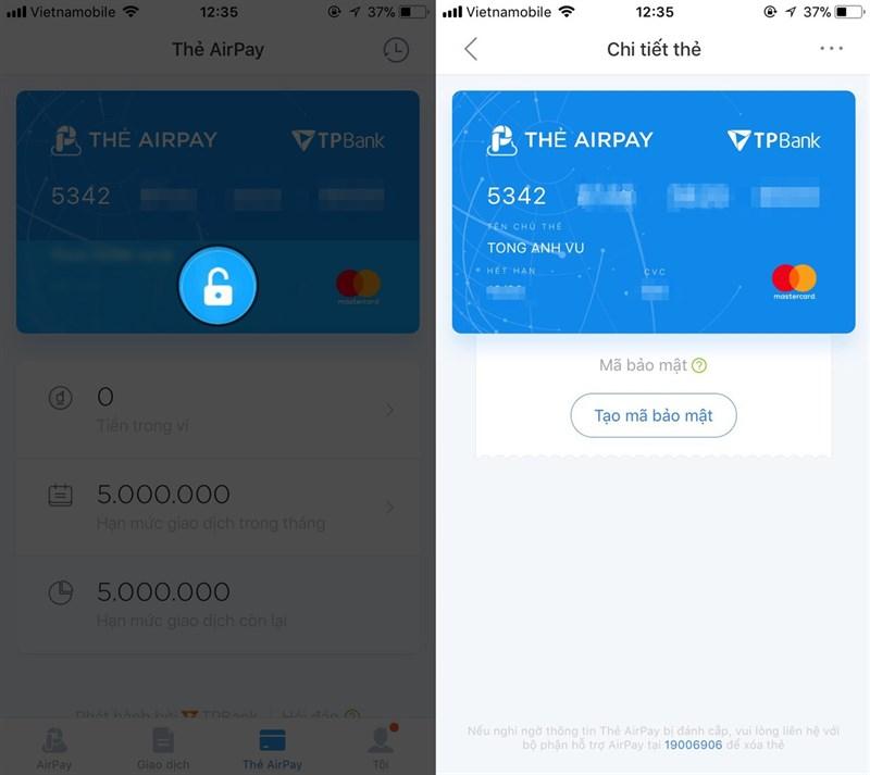 Tại mục Airpay chọn Liên kết ví, sau đó chọn thông tin thẻ Tài khoản ngân  hàng/ thẻ tín dụng, ghi nợ. Lựa chọn ngân hàng thẻ của bạn và nhập các ...