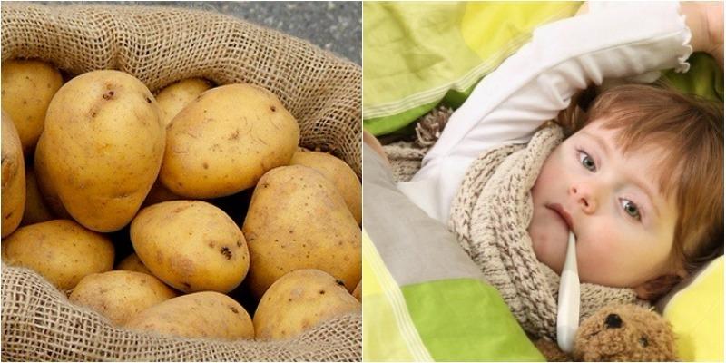 Đánh bay cảm lạnh cho bé nhờ 1 lát khoai tây