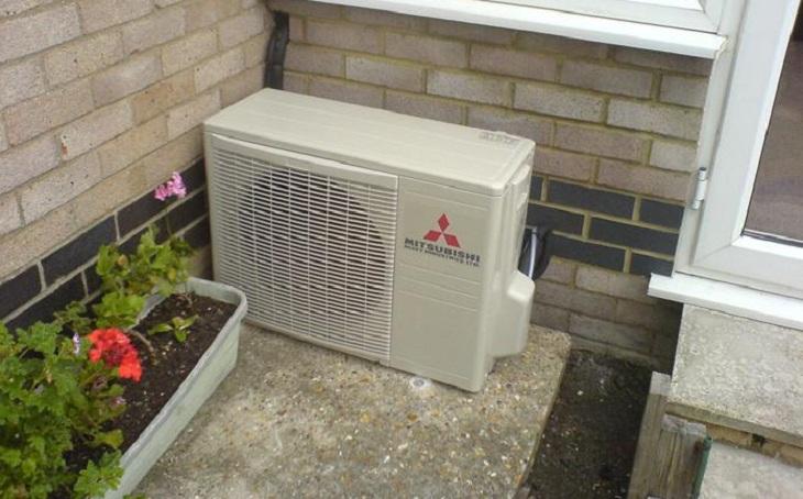 Cục nóng máy lạnh nưng hoạt động