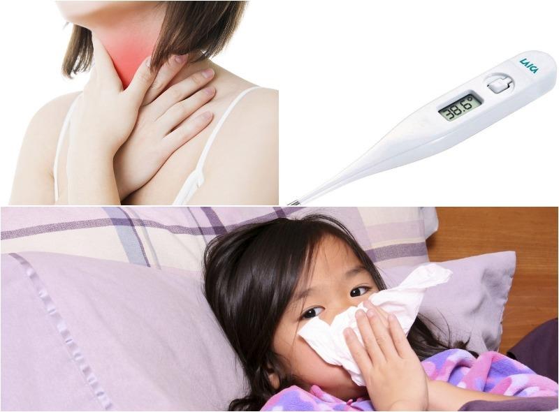 Triệu chứng của viêm họng cấp