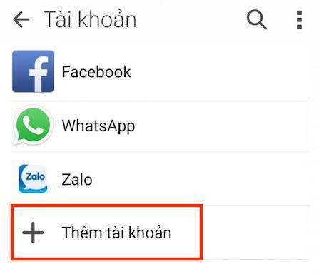Cách lấy danh bạ từ Gmail trên máy Android