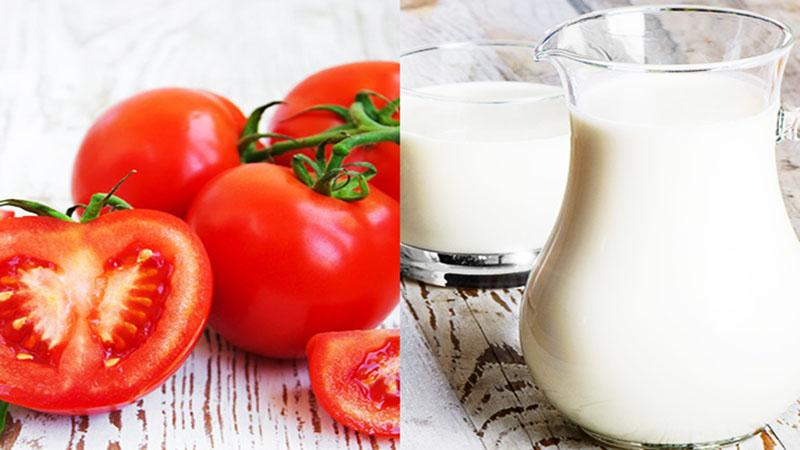 Mặt nạ cà chua sữa tươi