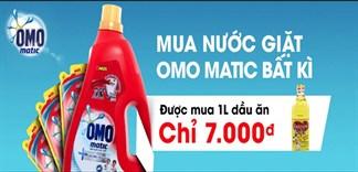 Mua nước giặt Omo Matic được mua 1 chai dầu ăn Happi Koki giá 7.000đ