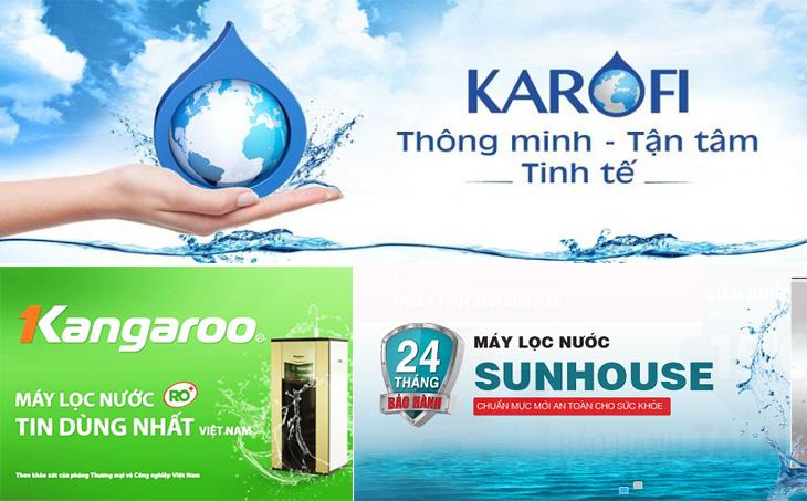 Một số thương hiệu máy lọc nước uy tín