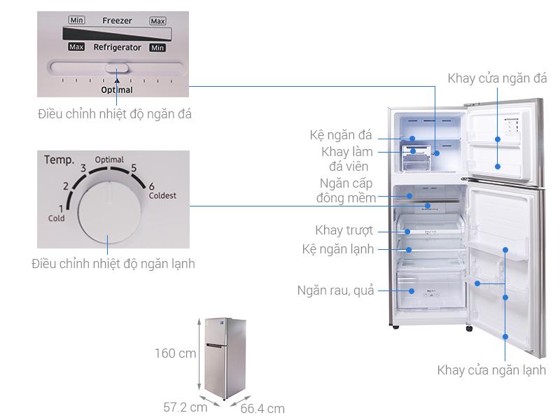 Kích thước tủ lạnh Samsung 236 lít RT22M4033S8/SV
