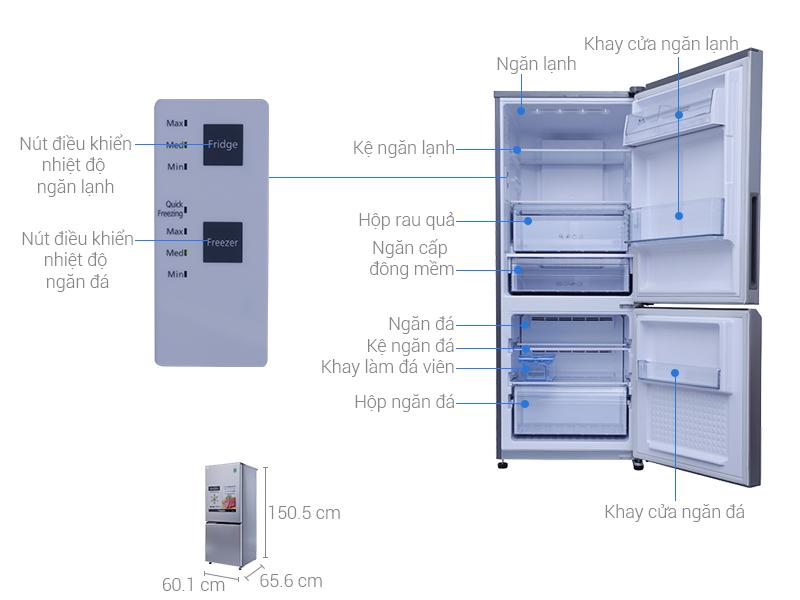Kích thước tủ lạnh Panasonic 255 lít NR-BV289QSVN