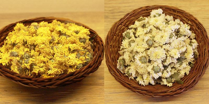 Trà hoa cúc trắng và vàng