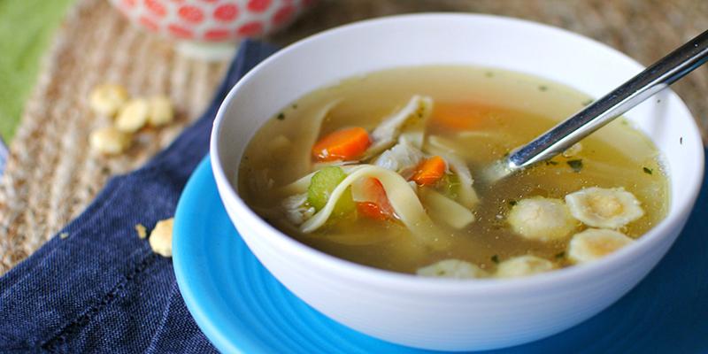 Soup bánh phồng tôm khai vị