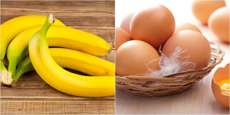 Chuối và trứng có chứa nhiều dưỡng chất tốt cho cây trồng