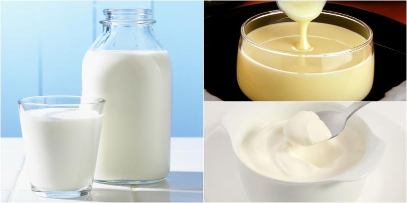 Sử dụng các loại sữa ít béo, tách kem
