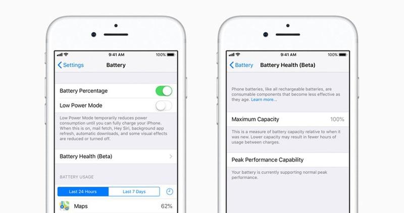 Tính năng Battery Health iOS