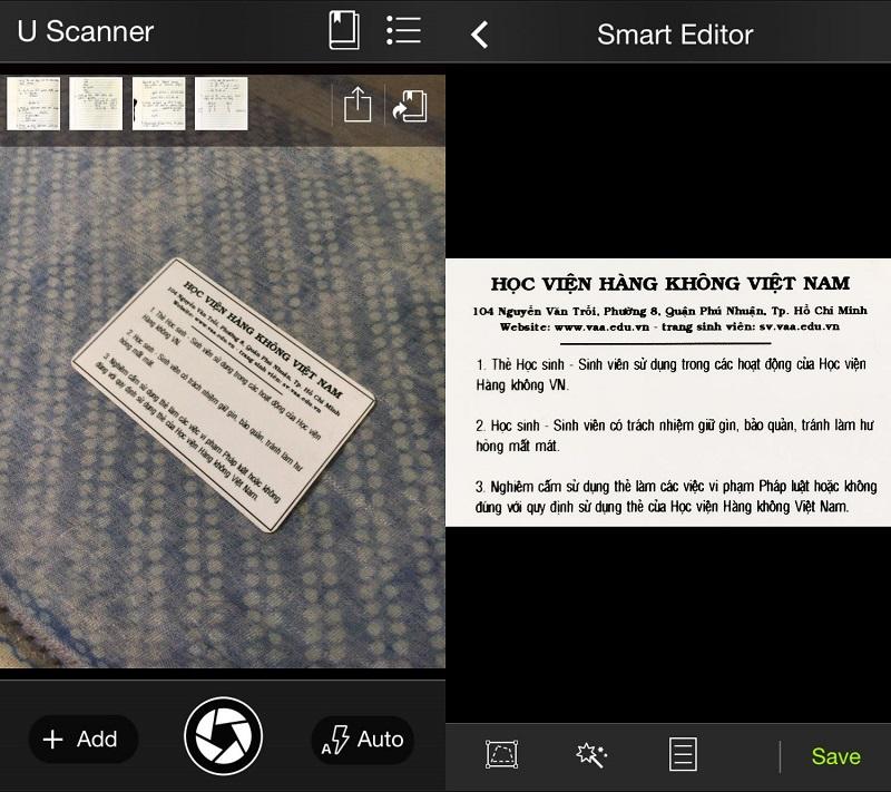 U Scanner ứng dụng Scan tài liệu cực tốt trên Smartphone