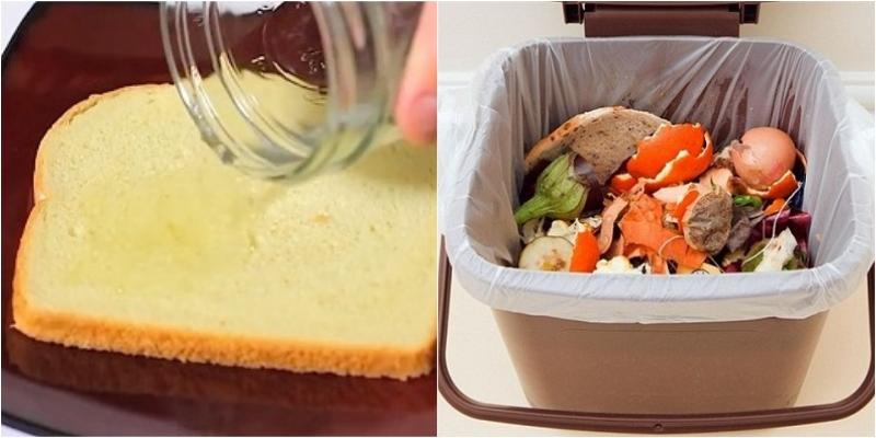 Khử mùi thùng khác với giấm và bánh mì