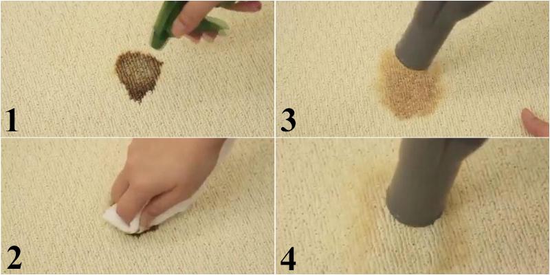 Làm sạch nước bẩn trên thảm