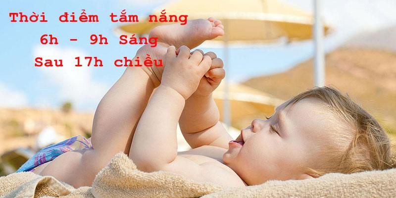 Thời điểm thích hợp để tắm nắng cho trẻ sơ sinh