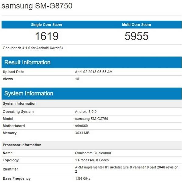 Galaxy S9 Mini xuất hiện trên cơ sở dữ liệu GeekBench