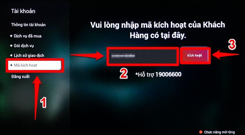 bước 6 nhập mã kích hoạt sony gửi về số điện thoại