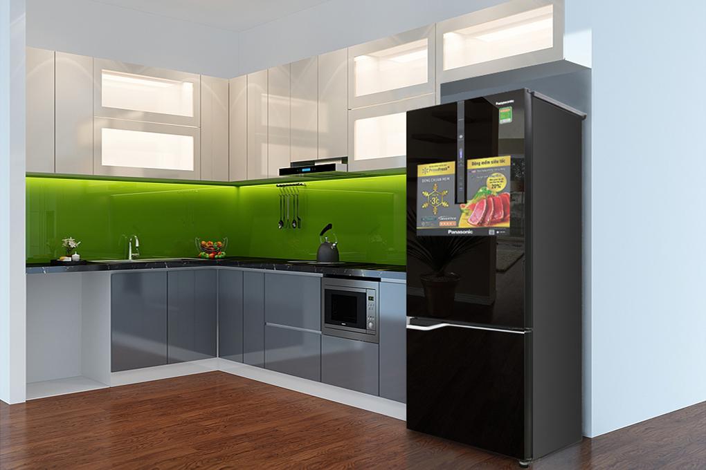 Tủ lạnh có mặt gương có thể soi