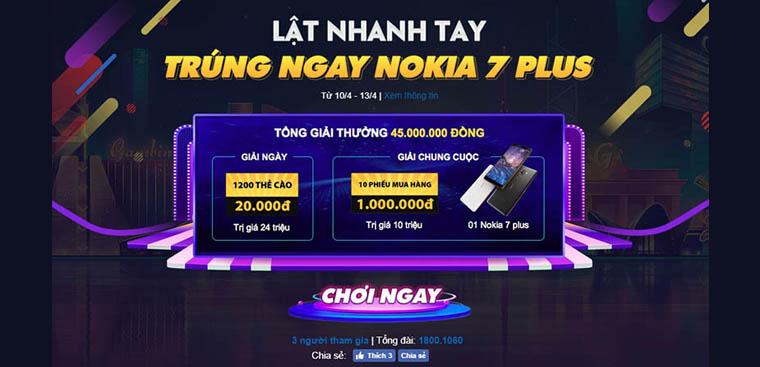 HOT: Cơ hội sở hữu Nokia 7 plus chỉ bằng vài cú click chơi minigame