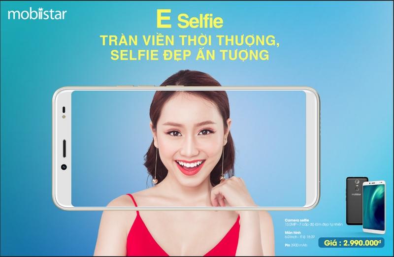 Mobiistar E-Selfie ra mắt: màn hình tràn viền, camera selfie 13 MP, giá chỉ 3 triệu