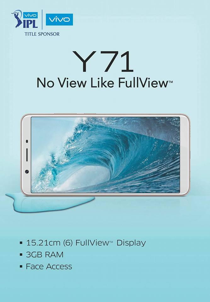 Vivo Y71 lộ diện thiết kế, camera và một vài thông tin khác