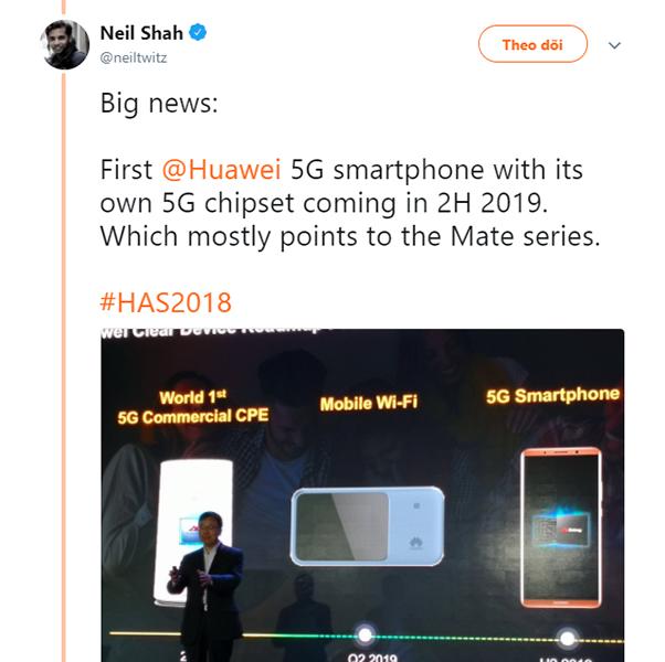 Huawei sẽ ra mắt chiếc điện thoại 5G đầu tiên vào vào quý 3 năm 2019 - ảnh 2