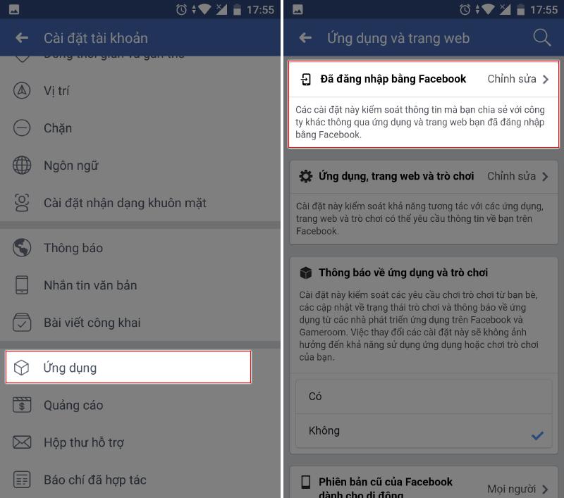 Facebook đã cho phép chỉnh sửa quyền truy cập ứng dụng như smartphone - ảnh 4