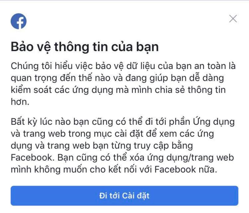 Facebook Đã cho phép chỉnh sửa quyền truy cập ứng dụng như smartphone
