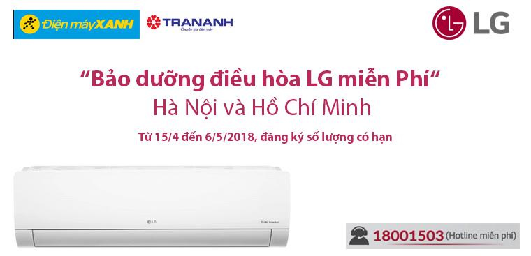 Bảo dưỡng điều hòa LG miễn phí HCM & Hà Nội 2018 đăng ký có hạn