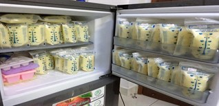 Tư vấn tủ lạnh để bảo quản, dự trữ sữa mẹ an toàn