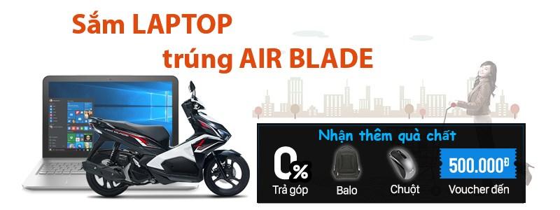 Sắm LAPTOP mới, Cơ hội trúng 5 Xe Honda AIR BLADE mỗi tuần