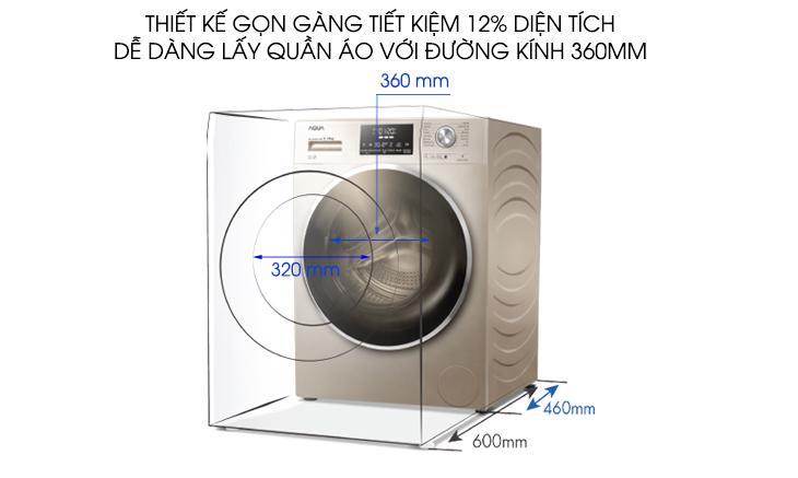 Công nghệ Ultra Slim (Chỉ có trên lồng giặt 525 mm)