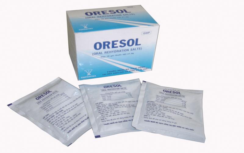 Dung dịch Oresol điều trị tiêu chảy tại nhà