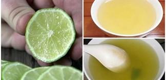 Dùng chanh để thử độc trong nước rau muống luộc