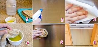 Mẹo sử dụng giấm ăn và dầu làm sạch đồ dùng bằng thép không gỉ