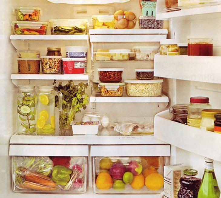 Sắp xếp ngăn nắp tủ lạnh và tránh để quá nhiều đồ