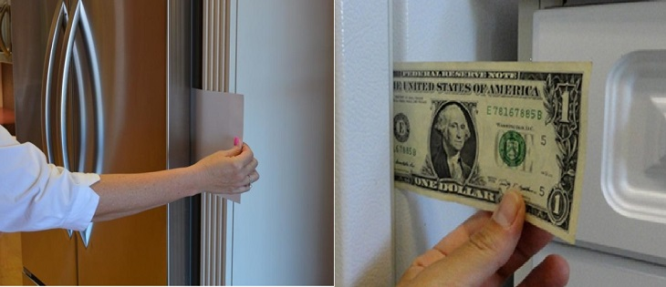 Dùng tiền giấy để kiểm tra tủ lạnh có hao phí điện