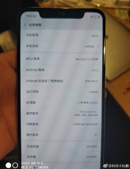 Xiaomi Mi 7 lộ cấu hình chi tiết và ảnh trên tay ngoài đời thực