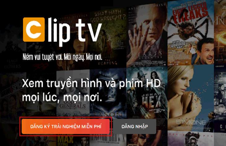 Đăng ký ClipTV