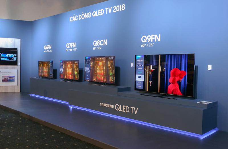 Các dòng tivi QLED Samsung năm 2018