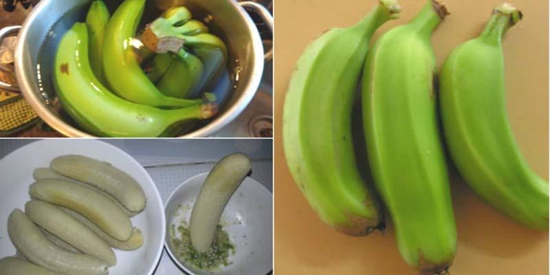Nhiều người ăn chuối xanh luộc với mục đích giảm cân
