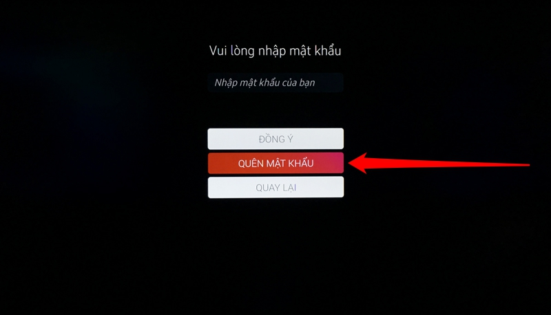 Bước 5: Chọn vào Quên mật khẩu để tạo tài khoản mới