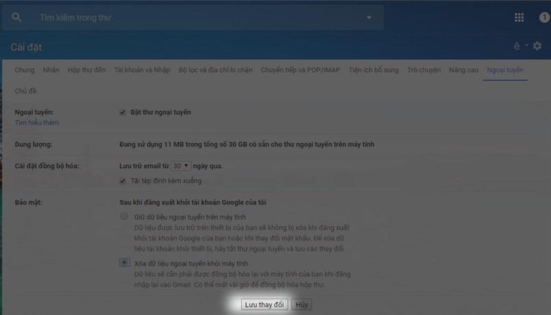 Cách kích hoạt chế độ ngoại tuyến mới của Gmail trên PC